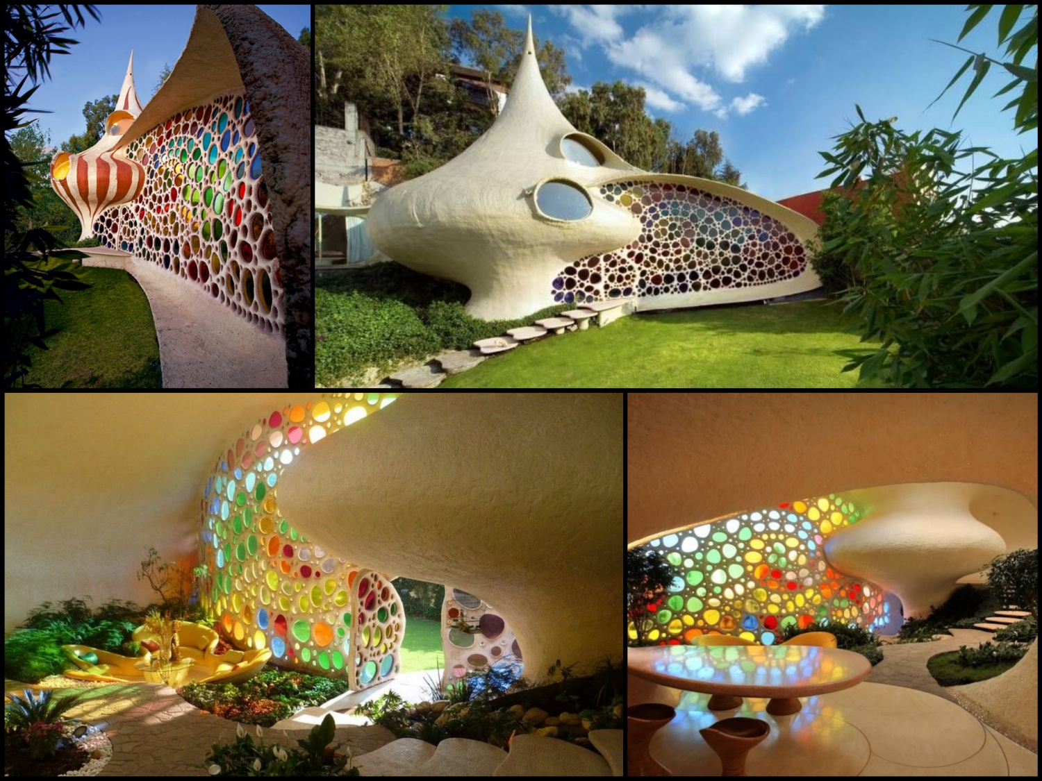 Inside the nautilus house by javier senosiain at home for Nautilus garden designs