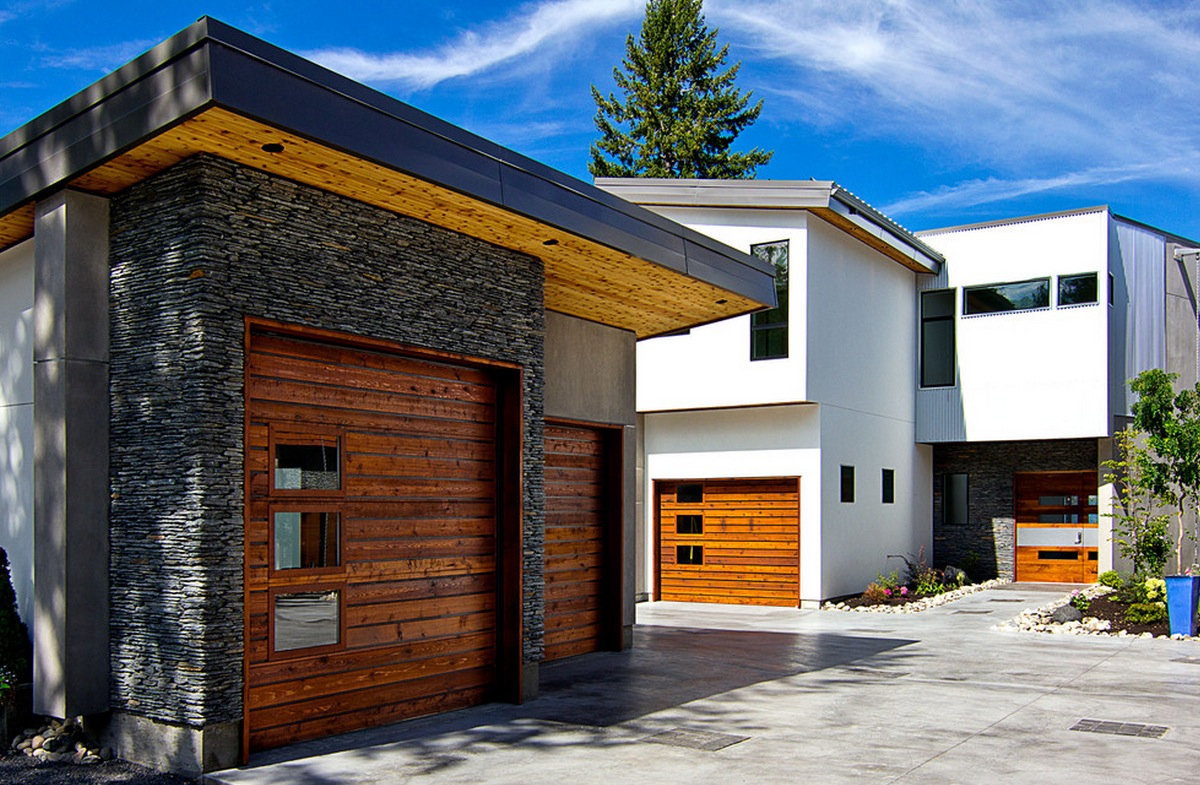 Modern garage doors for your home at home victoria for Door styles for homes